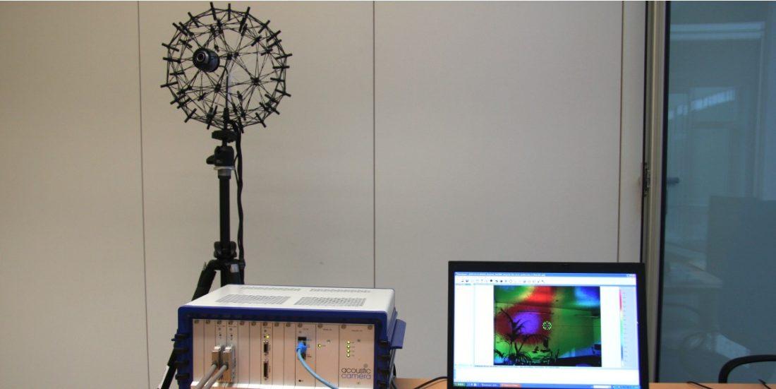 Array de micrófonos y adquisición multicanal para Beamforming